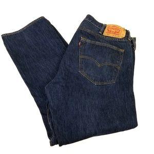 LEVI'S Denim Jeans 501 42x32 Blue Wash Men's